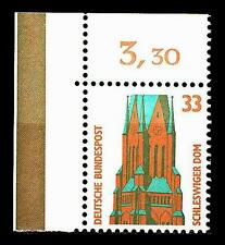 BUND SWK   33 Pf. **, Mi. 1399 - Eckrand o.l. - Schleswiger Dom