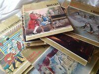 LOT DISQUE 33T CHEFS-D'OEUVRE DE L'ART Hachette Vintage- avec reliure illustré
