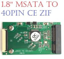 1.8'' mSATA Mini PCI-E SATA SSD to ZIF CE 40 Pin Adapter Card 3.3V PCB Module PC