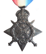 WW1 1914 'Mons' Star Medal Full-Sized Replica Made In Bronze Plated Pewter