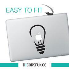 Light bulb Macbook Stickers on black vinyl | Laptop stickers | Macbook Decals