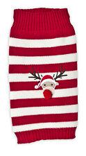 Pet Brands Festive Extra Small Christmas Jumper Rudolf Xmas Pet Dog Coat Rudolph