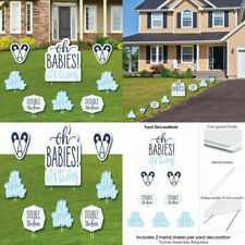 It's Twin Boys - Yard Sign and Outdoor Lawn Decorations - Blue Twins Baby.