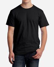20 Fruit of the Loom T-Shirts 100% Cotton HD BLACK blank Adult Bulk Lot S M L XL