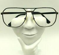 Vintage Valentino 5110 Gold Gunmetal Aviator Sunglasses Eyeglasses Frames