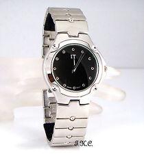 Caballeros Para Hombre Retro Clásico Mate Silver Negro De Diseño Vestido Reloj De Pulsera, Japan Movt