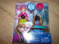 Disney Frozen Anna of Arendelle Magiclip Mini Doll Set with Vanity & Ring New