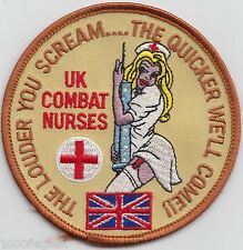 UK Combat Nurses Army Navy RAF Embroidered Crest Badge Patch MOD Approved *