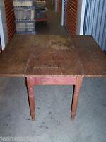 """Antique Drop Leaf Farmhouse Table***48"""" Long"""
