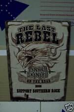 THE LAST REBEL LYNYRD SKYNYRD 2006 TOUR TIN SIGNS ROCK BAR POOL ROOM ✔️