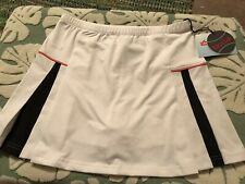Bolle Tennis Skirt SMALL NWT Front Double Pleat Pink Trim Black Inner Pleats