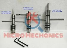 Set Of 3 - Ratchet Type T Handle Tap Wrench & Pilot Spindle Tap Wrenches