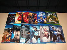 12 Marvel Blu ray Movie Lot X Men Spiderman Captain America Thor Hulk Fantastic