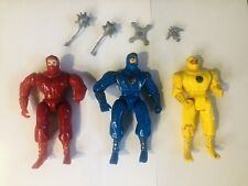 Red, Blue, Yellow Ninja Power Rangers W/ Weapons 1995 Bandai Parts Accessories