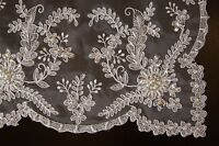 Embroidered Handmade Jeweled Placemat Table Runner tablecloth Wedding Bridal