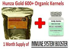 "Hunza Gold ""100% Organic"" Bitter Raw Apricot Kernels +Free Immune Booster Bottle"