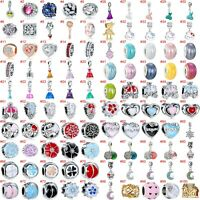 European Silver Charms Dresses Beads Gifts CZ Pendant Fit 925 Sterling Bracelets