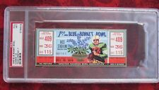 1959 BLUEBONNET BOWL CLEMSON vs TCU   PSA 7 FULL TICKET RICE STADIUM