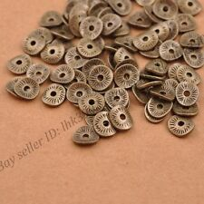 50/100Pcs Antique Silver Wavy Charm Spacer Beads Jewelry Findings Z3038