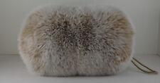 Real Blush Fox Fur Handmuff Snow TopNew Made in USA  Hand muff down satin lining
