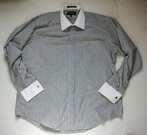 Damante Couture Collection Shirt Black And White Striped Single Needle Tailoring