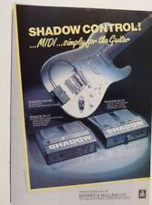retro magazine advert 1987 SHADOW GUITAR SYNTH