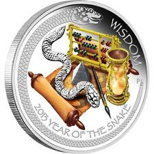 2013, Tuvalu, Year of the Snake Wisdom, 1$ Silver coin, Lunar Good Fortune