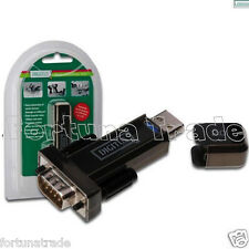 Digitus FTDI Chipsatz USB auf Seriell DB9 COM ADAPTER + Nullmodem 1,8m RS232