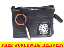 BLACK COIN PURSE Wallet from Eco Reclaimed Bicycle Inner Tube + FREE DELIVERY