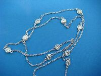 """1.05 CT """"DIAMONDS BY THE YARD"""" 10 STATIONS NECKLACE, 18 INCH, SAFETY LOCK"""