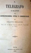 Serafini: Telegrafo in Relazione alla Giurisprudenza 1862 Fusi Telegramma Morse