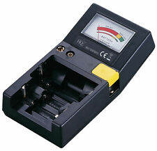 HQ Battery Tester Test's AAA, AA, C, D, 9V and button cell batteries