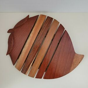 Wood Trivet Mango Fruit with Leaves