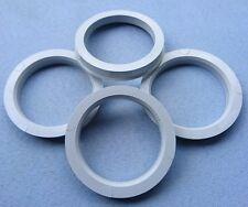 (1215) 4 Stück  Zentrierringe  70,4 / 56,6 mm grau / schwarz für Alufelgen