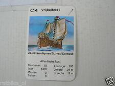 67-PIRATEN,PIRATES, C4 VRIJBUITERS 1 ST. IVES CORNWALL ZEEROVERSCHIP