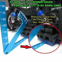 3 in 1 Camber Gauge For all 1:8 1:10 On Road Rc Car HSP Rastar Tamiya WLtoys B