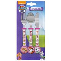 Disney PAW PATROL Children Metal 3 Piece Cutlery Set PINK Ideal Gift