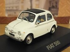 ATLAS EDITIONS FIAT 500 WHITE CAR MODEL 2147214 1:43