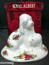 OLD COUNTRY ROSES PLAYING PUPPIES ORNAMENT, 1st QUALITY, VGC, ROYAL ALBERT