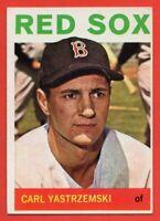1964 Topps #210 Carl Yastrzemski EX-EX+ WRINKLE Boston Red Sox HOF FREE SHIPPING