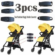 3pcs Twin Pushchair Buggy Stroller Converter Connection Adapter for Yoyaplus VS