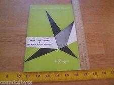 Bette Davis Gary Merrill 1960 Playgoer magazine program Huntington Hartford The