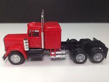 HO 1/87 Promotex/Herpa # 25233  Peterbilt Conv. Tandem Tractor w/sleeper Red
