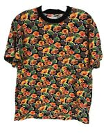 VTG '80s United Colors of Benetton Womens MEDIUM Floral Top Shirt Tee Cotton V2