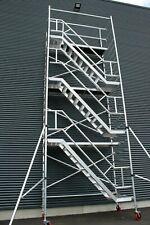 KiezGerüst Treppengerüst Rollgerüst Fahrgerüst Rollrüstung Gerüstturm Ah.12,3m