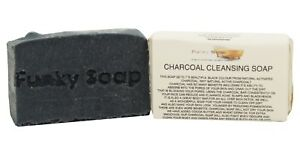 1 piece Charcoal Cleansing Soap Bar, 65g, 100% Natural Handmade