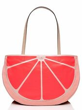 Kate Spade New York Flights Of Fancy Grapefruit Tote Pink NWT MSRP $228