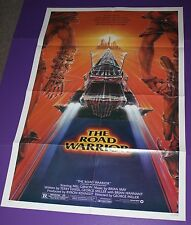 THE ROAD WARRIOR MOVIE POSTER ORIGINAL ONE SHEET MAD MAX MEL GIBSON