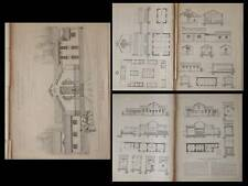 SAINT GILLES DU GARD, ABATTOIR - PLANCHES ARCHITECTURE 1905 - CHRISTOL