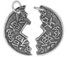 925 ECHT SILBER *** Partner Doppel- Anhänger Amulett Münze Glücksmünze Tai-Pan